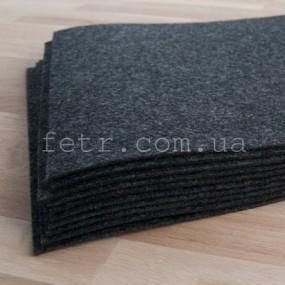 Войлок 2 мм, 300 г/м2 Цвет: темно серый