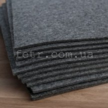 Войлок 2 мм, 280 г/м2 серый