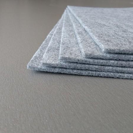 Войлок 3 мм, 450 г/м2 . Цвет: светло-серый Декор