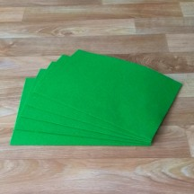 Войлок натуральный Цвет Зеленый, Толщина 3 мм