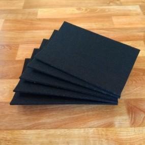 Войлок, 6 мм, 500 г/м2 Цвет: черный