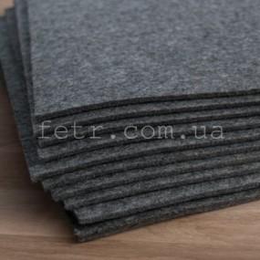 Войлок 3 мм, 500 г/м2. Цвет: серый