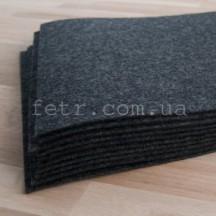 Войлок 3 мм, 500 г/м2 Цвет: темно-серый