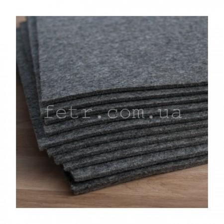 Войлок 2 мм, 220 г/м2 Цвет: серый