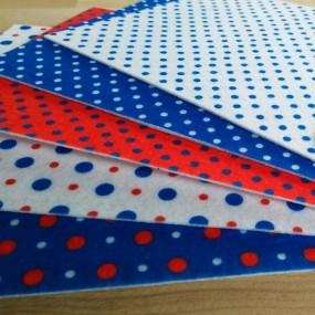 Набор фетра с рисунком №6 для рукоделия 5 листов