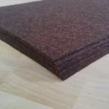 Войлок 3 мм, 500 г/м2 Цвет: темно-коричневый