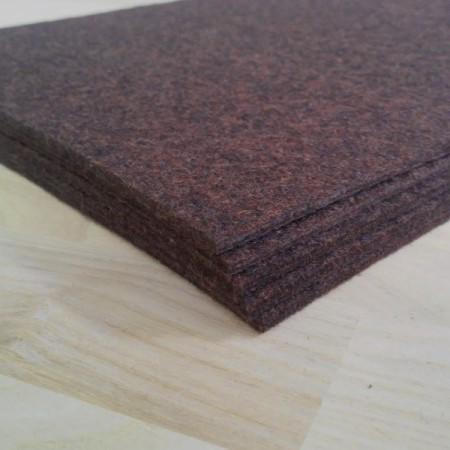 Войлок 3 мм, 500 г/м2 темно-коричневый
