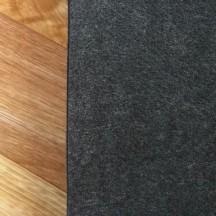 Войлок 3 мм, 500 г/м2. Цвет: Черный Меланж