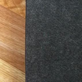 Войлок 3 мм, 450 г/м2. Цвет: Черный Меланж