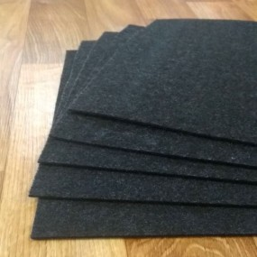 Войлок 2 мм, 280 г/м2 Цвет: Черный Меланж