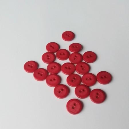 Пуговицы пластиковые Темно-Красные