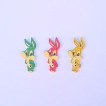 Фигурка деревянная Цветные Кролики