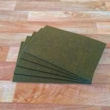 Войлок 3 мм, 500 г/м2. Цвет Темно-Оливковый Меланж