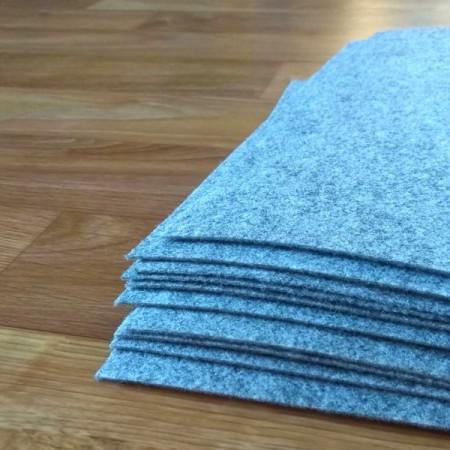 Войлок Жесткий 1 мм, 300 г/м2 Цвет: серый