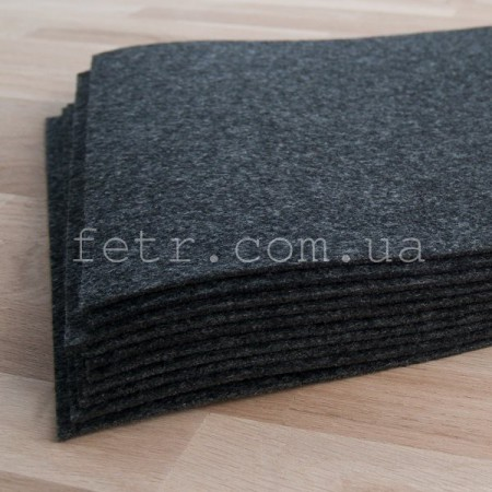 Войлок 2,3 мм, 400 г/м2 Цвет: темно серый