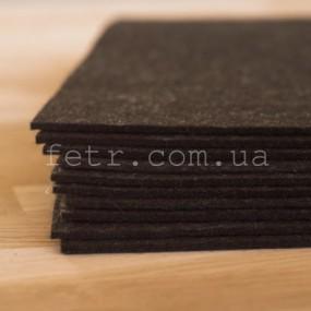 Войлок 2,3 мм, 400 г/м2 Цвет: черный