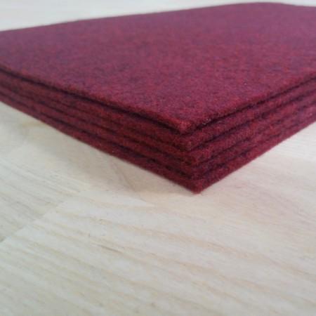 Войлок 2,3 мм, 400 г/м2 Цвет: Бордо Мягкий