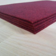 Войлок 3 мм, 500 г/м2 Цвет: бордо